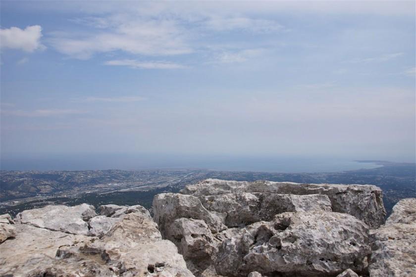 Blick vom Baou de Saint Jeannet auf Nizza