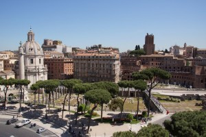 Blick vom Monumento a Vittorio Emanuele